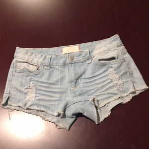 Light colored jean shorts